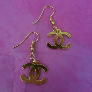 Gold Charm Earrings